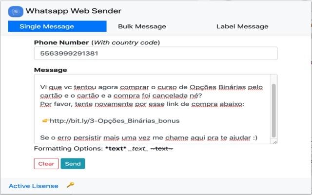 Whatsapp Web Sender