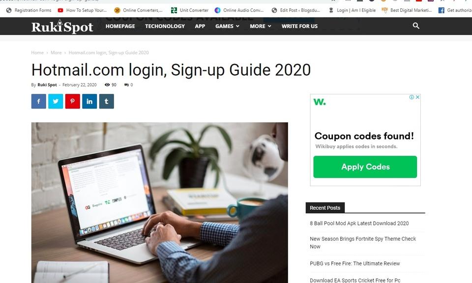 www.hotmail.com signup login