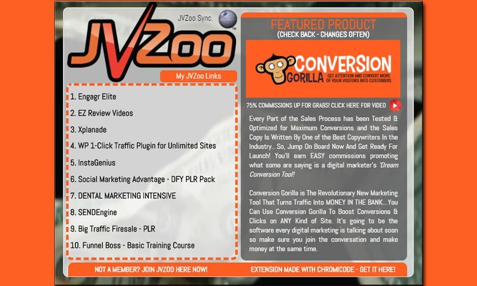 JVZoo Dashboard