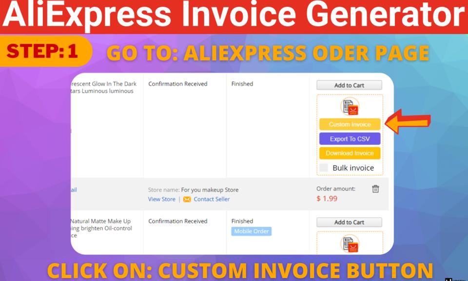 AliExpress Invoice Generator - AliInvoice™️
