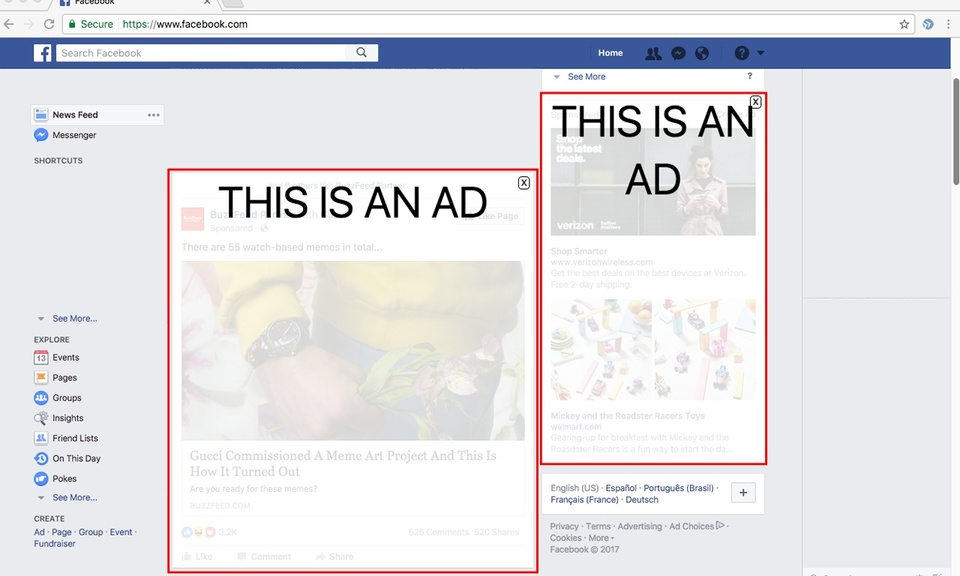 Perceptual Ad Highlighter