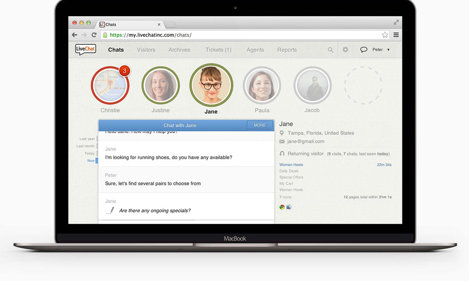 LiveChat - live chat and help desk software
