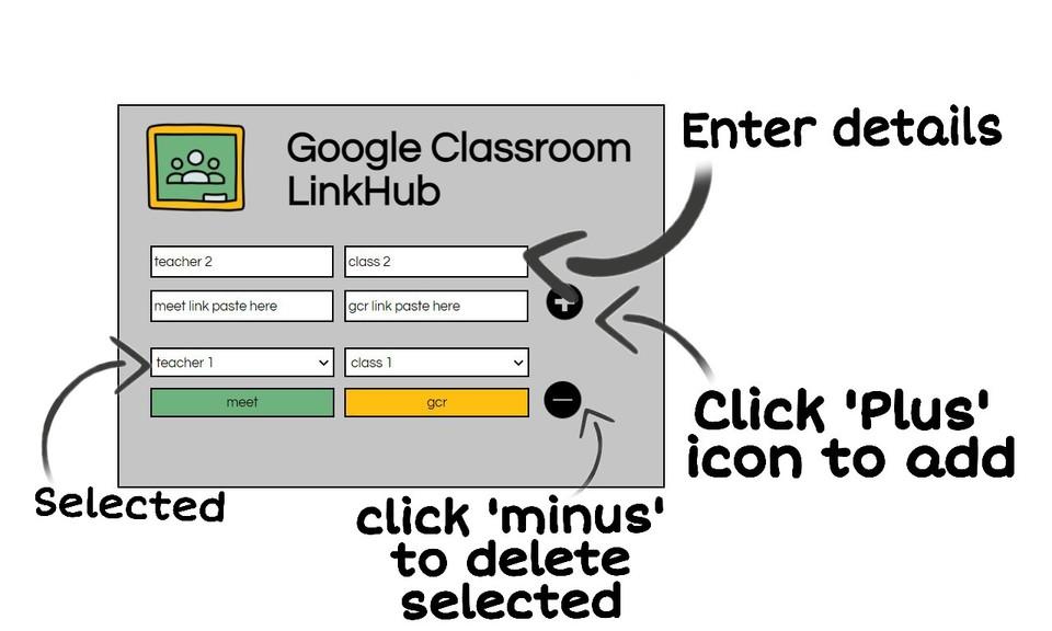 Google Classroom LinkHub