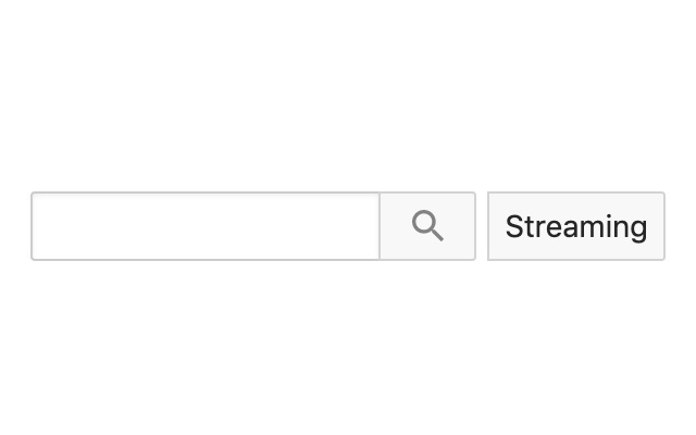 Youtube streaming search button