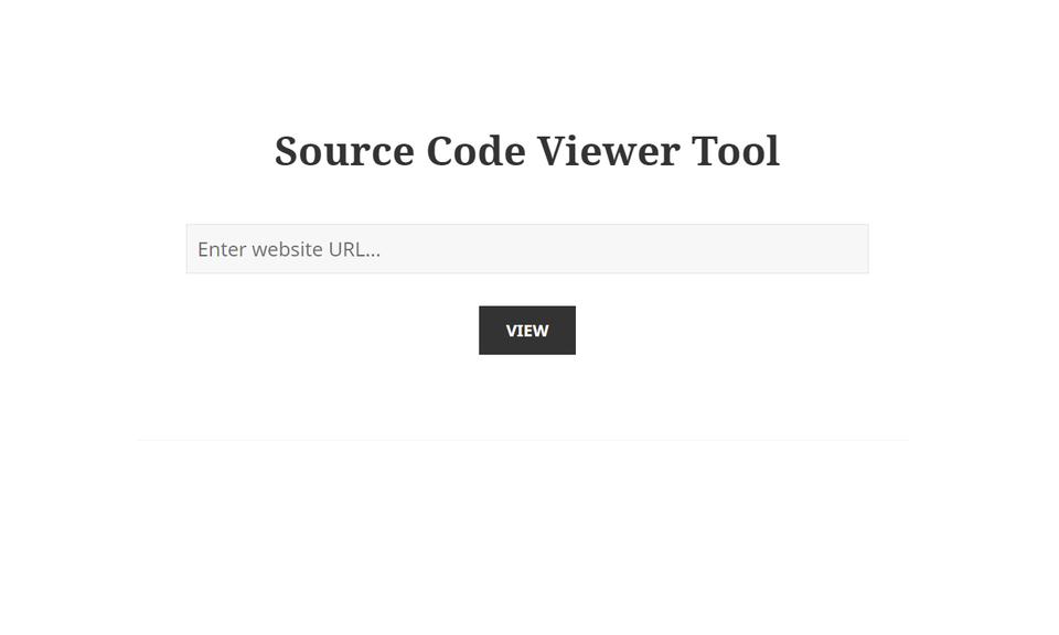 Source Code Viewer Tool