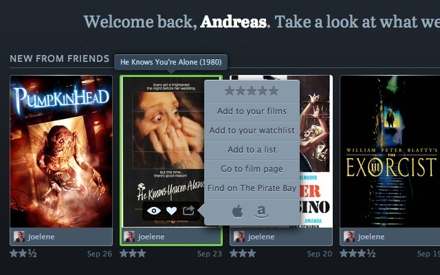 Letterboxd + The Pirate Bay links