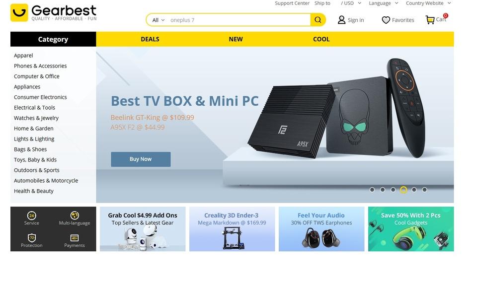 Gearbest.com button