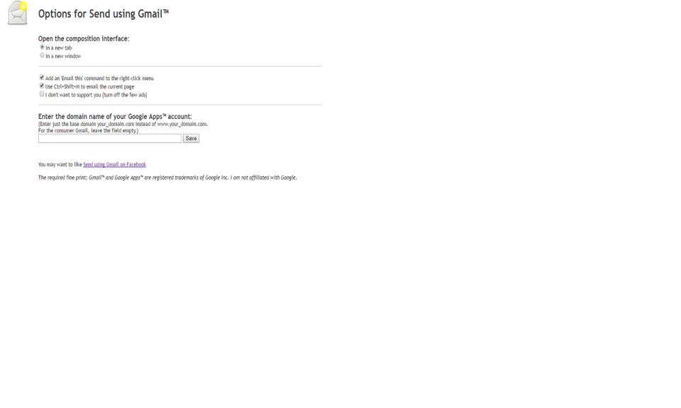 Send using Gmail™ (no button)