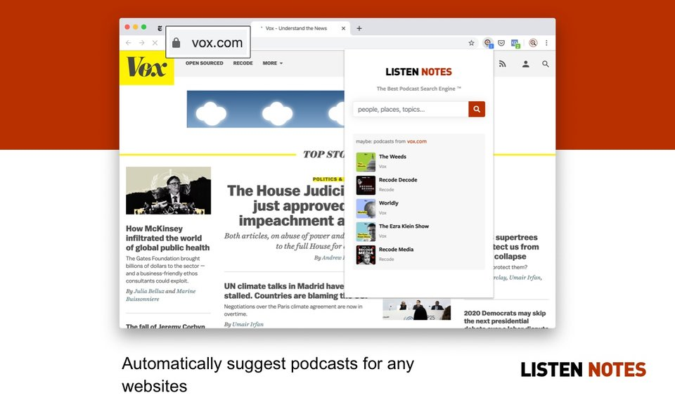 Listen Notes for Chrome
