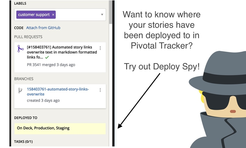 Deploy Spy for Pivotal Tracker