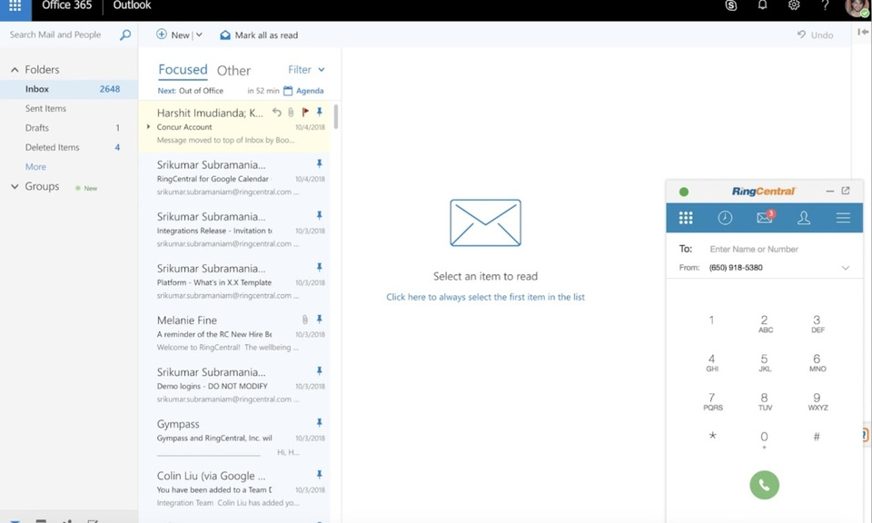 RingCentral for Office 365