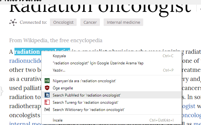 Right-Click Search PubMed