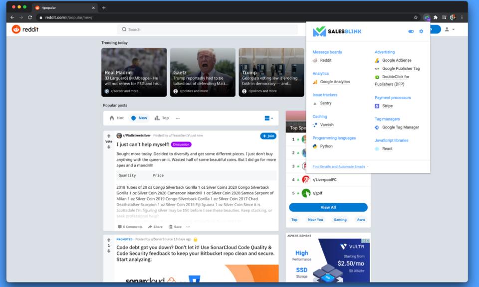 Technology Finder by SalesBlink
