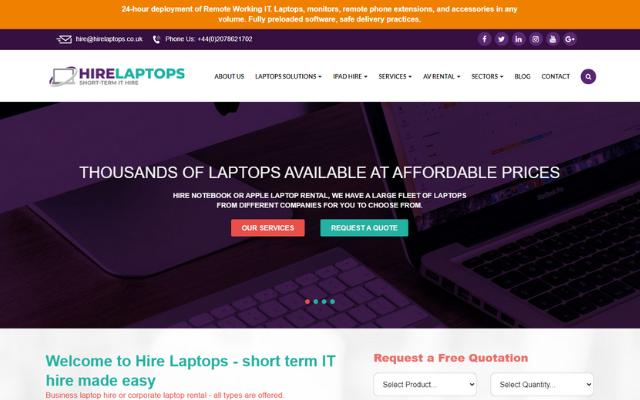 Hire Laptops UK