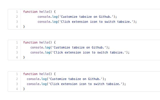 Github tabsize switch