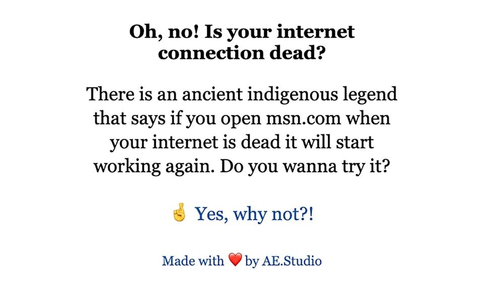 Resurrect my internet