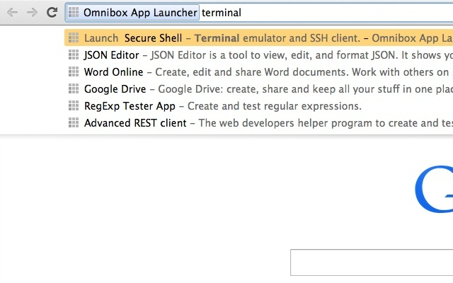 Omnibox App Launcher