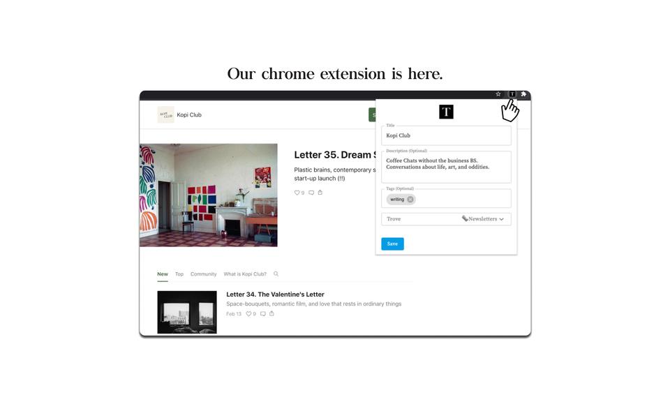 Trove Chrome Extension