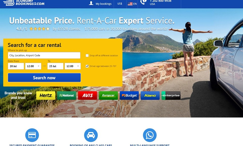 Car Rentals Search and Booking Plugin