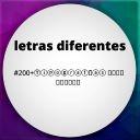 Letras diferentes,diferentes letras