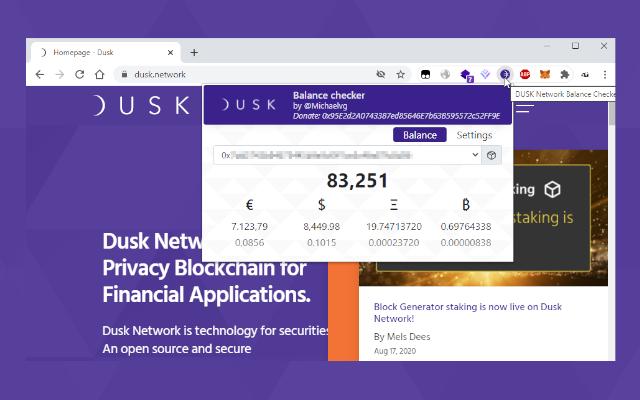 DUSK Network Balance Checker