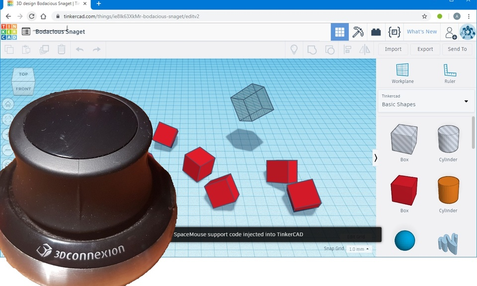 SpaceMouse in TinkerCAD