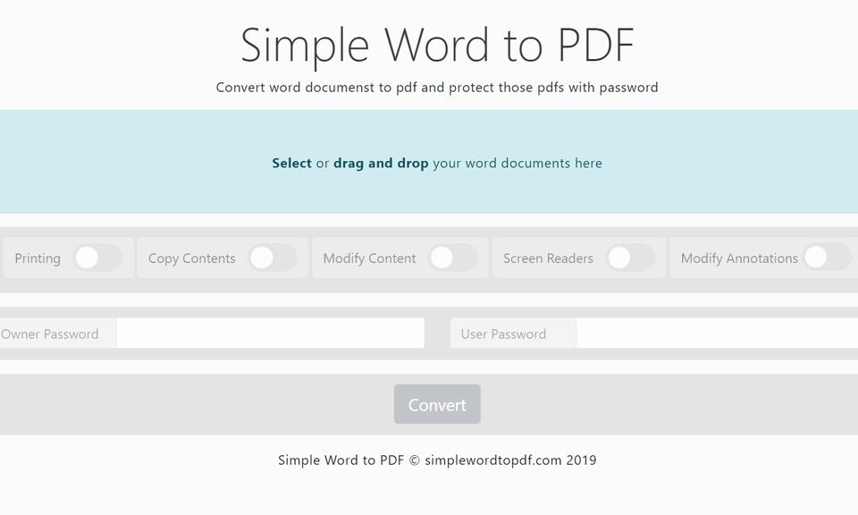 Simple Word to PDF