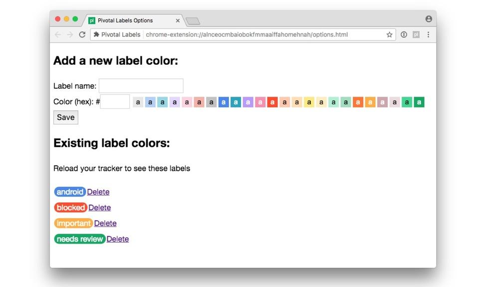 Pivotal Labels