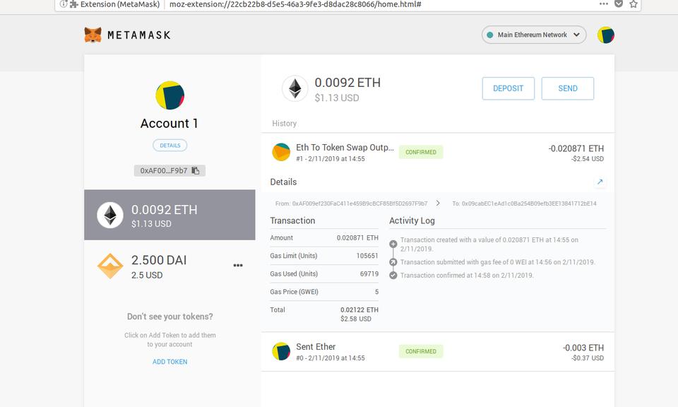 MetaMask-以太坊钱包插件