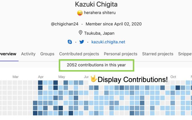 Gitlab Contribution Counter