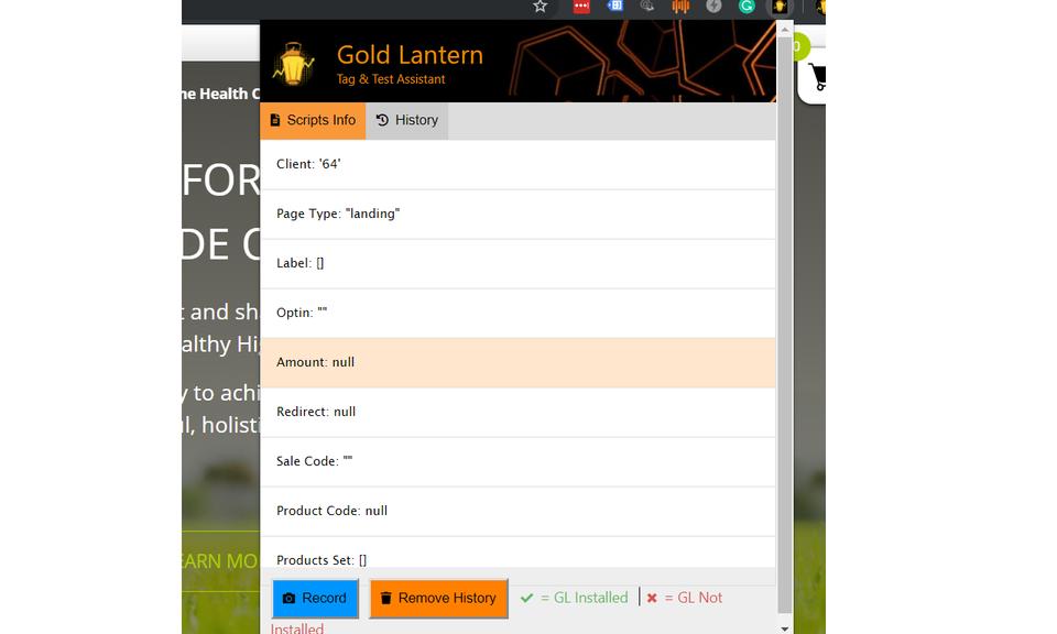 Gold Lantern Extension