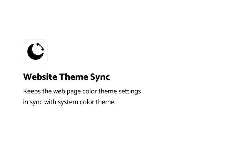 Website Theme Sync