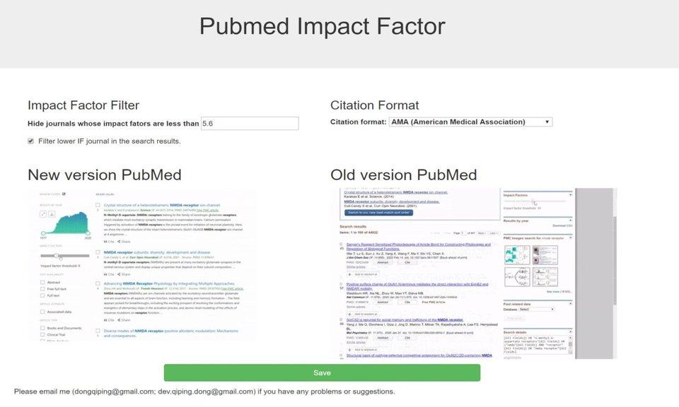 Pubmed Impact Factor - 显示学术期刊影响因子插件