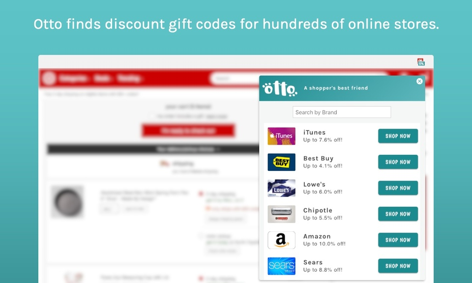 Otto – Gift Card and Coupon Finder