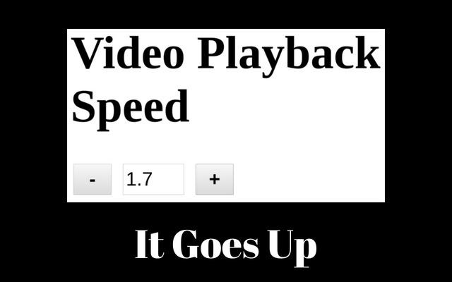 Video Playback Speed