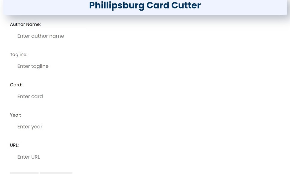 Phillipsburg Card Cutter