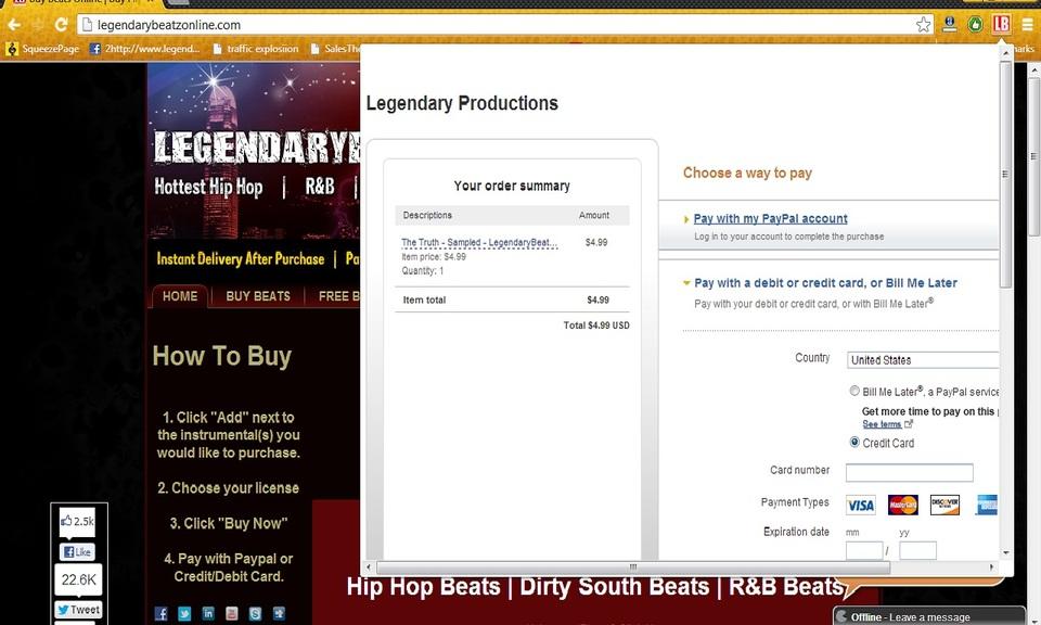 LegendaryBeatz Beat Store