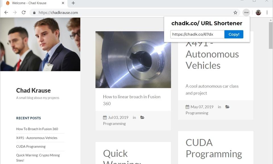 Chadk.co/ URL Shortener