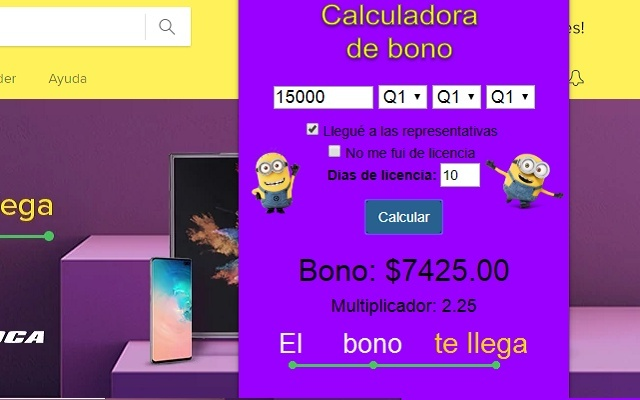 CalculadoraDeBono