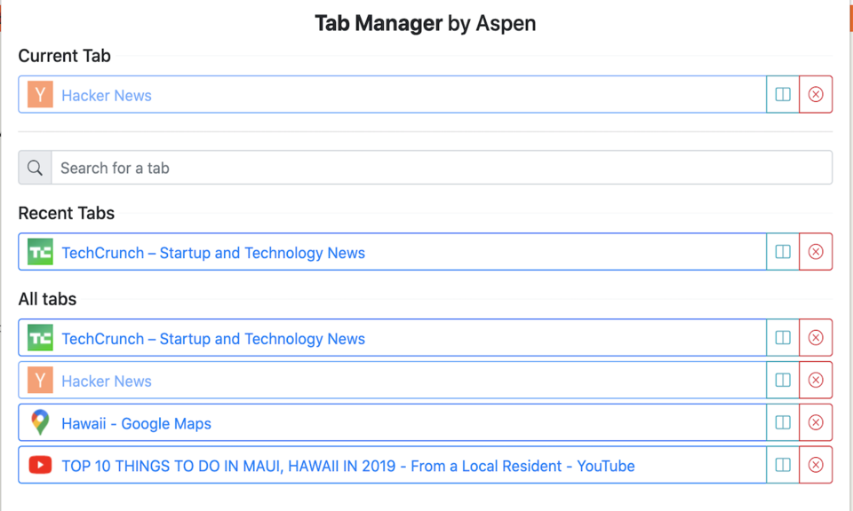 Tab Manager by Aspen