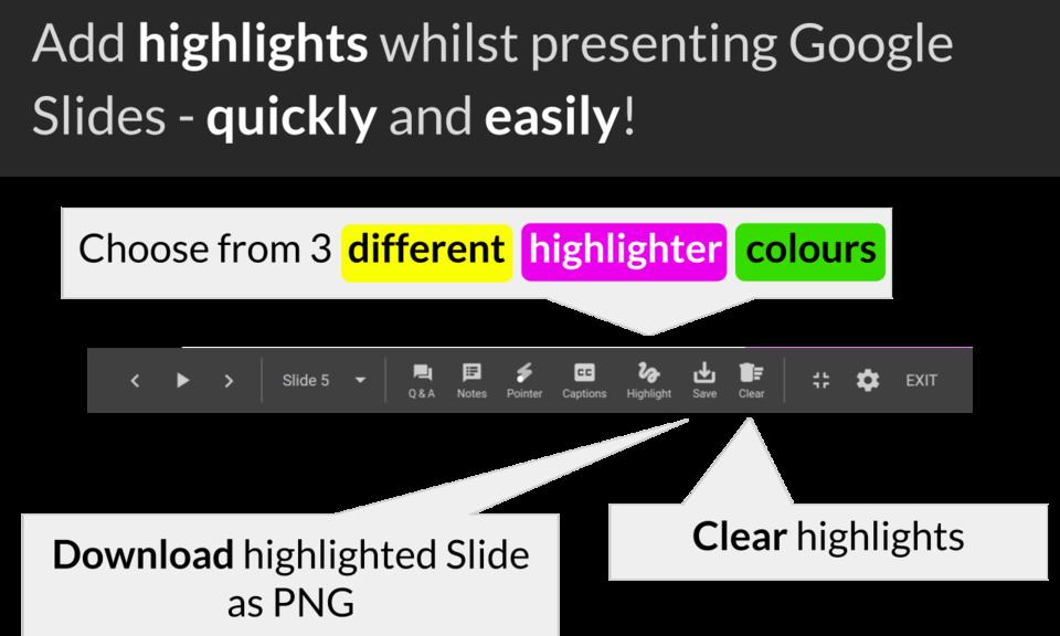 Show - Highlighter for Google Slides