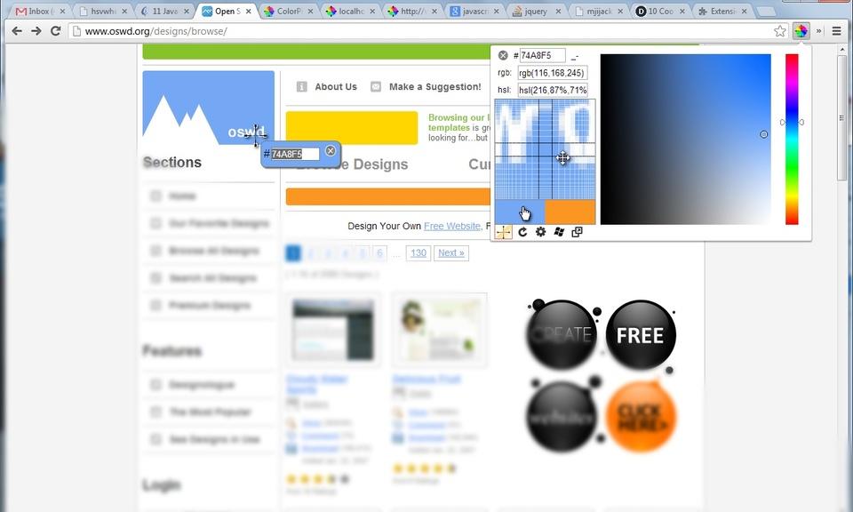ColorPick Eyedropper-谷歌浏览器网页取色器