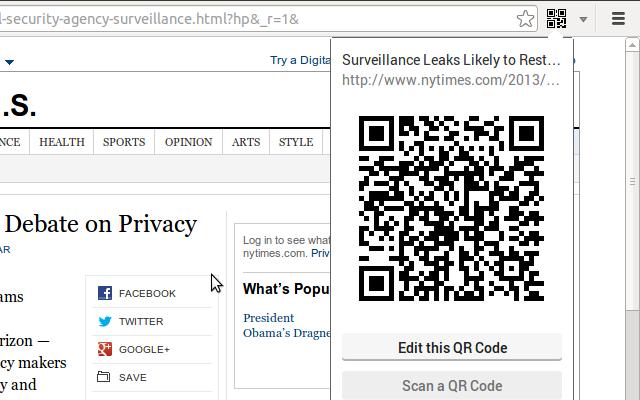 The QR Code Extension-网页在线生成二维码插件