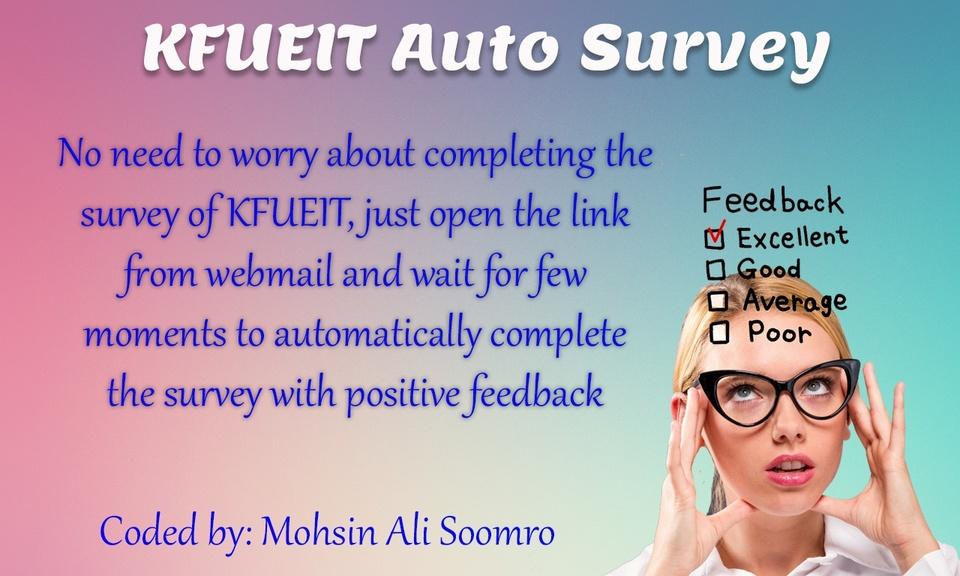 KFUEIT Auto Survey by Mohsin