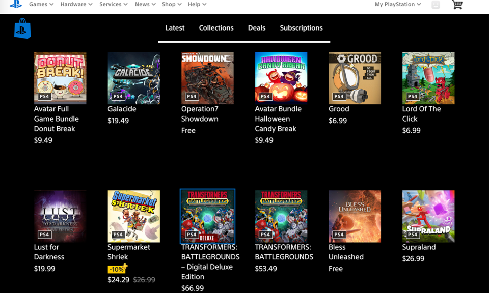 PlayStation Web Store Enhancer