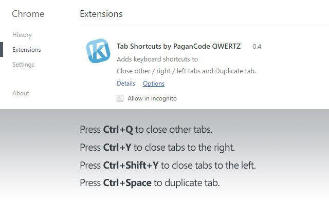 Tab Shortcuts by PaganCode QWERTZ