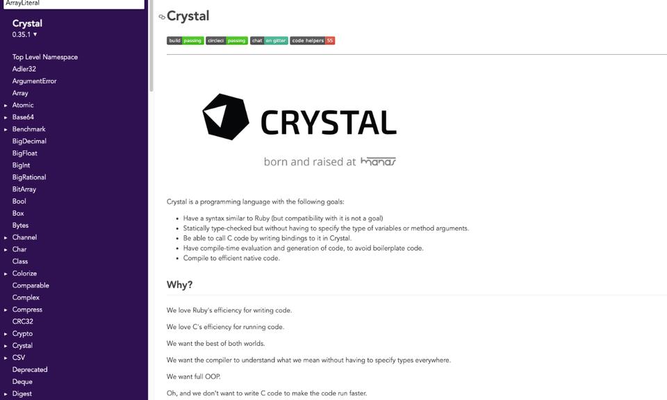 Crystal Language API Redirect