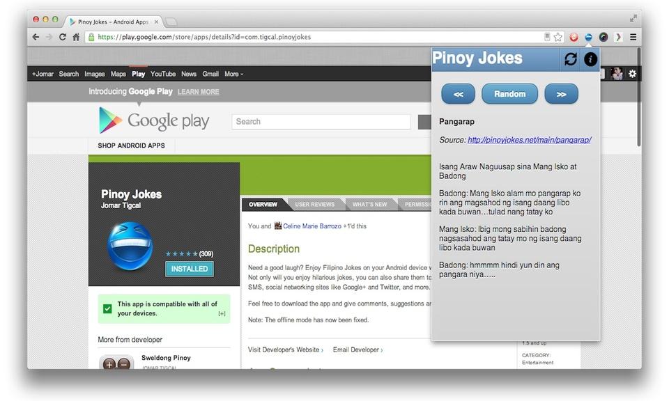 Pinoy Jokes Chrome Extension