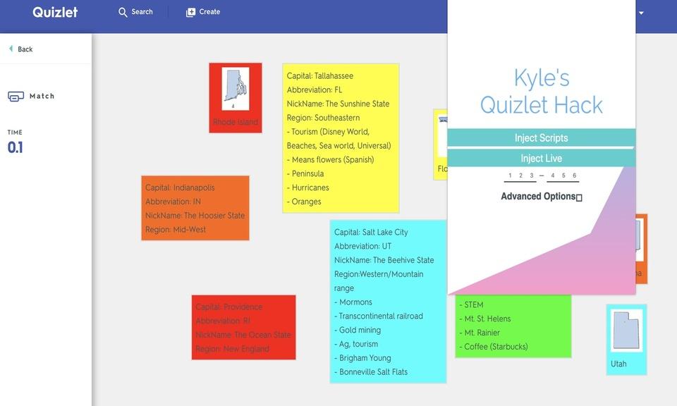 Kyle's Modified Quizlet Exploit/Cheat