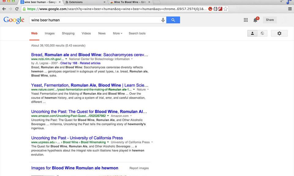 Wine To Blood Wine
